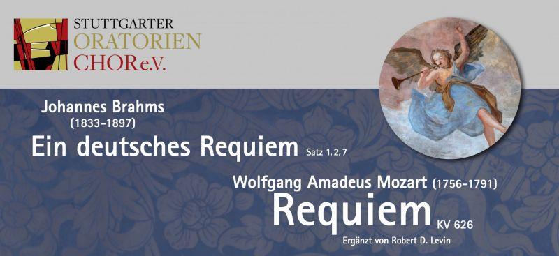 """J. Brahms """"Ein deutsches Requiem"""" & W.A. Mozart """"Requiem"""""""